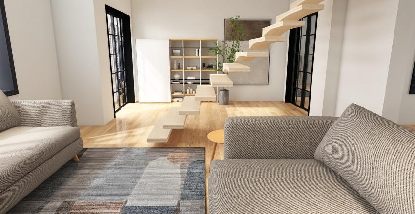 Cozy Grey Interior Design Render