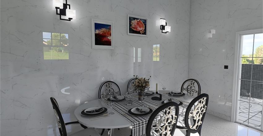 Classic Black and White House Interior Design Render