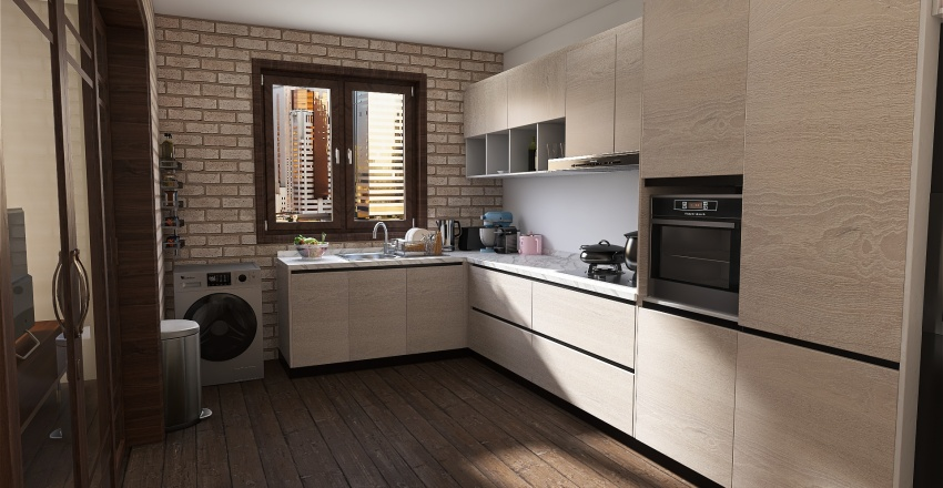 beginer house Interior Design Render