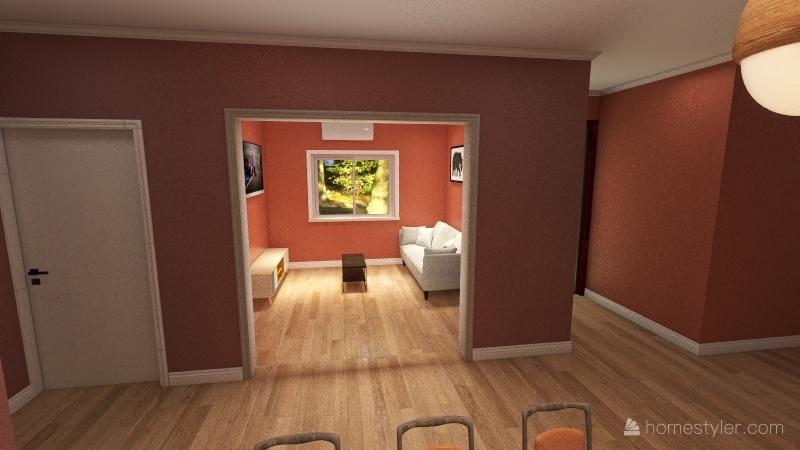 Departamento 1 de 2. Interior Design Render