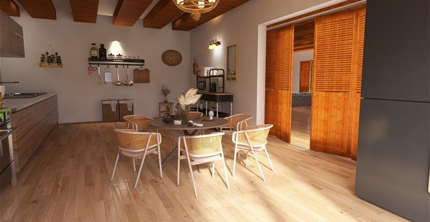 maison dans les collines Interior Design Render