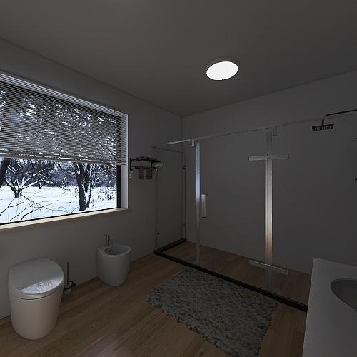 Cuarto de baño estilo nordico Interior Design Render