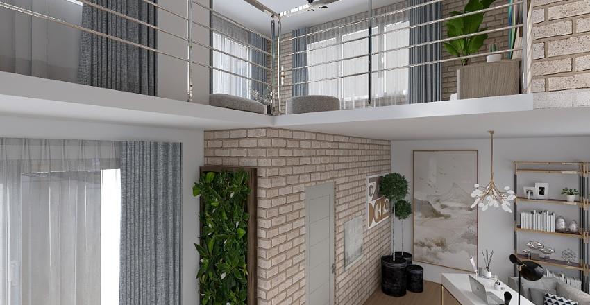 Influencer's attic in NY Interior Design Render