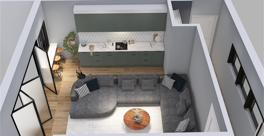 Copy of Hallway Bettey Property Rec Room Interior Design Render