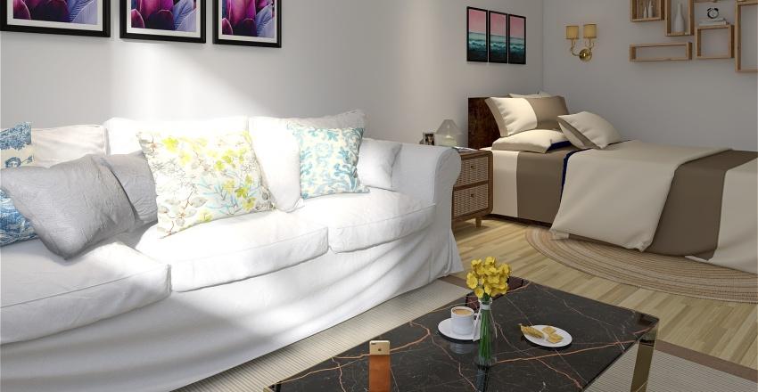Small Modern flat in Cincinnati Interior Design Render