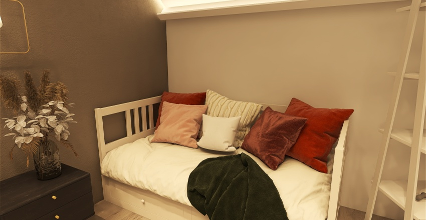 Girls Dream Loft Bedroom!! Interior Design Render