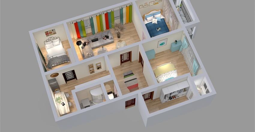4,5 i Byt -ZV Interior Design Render