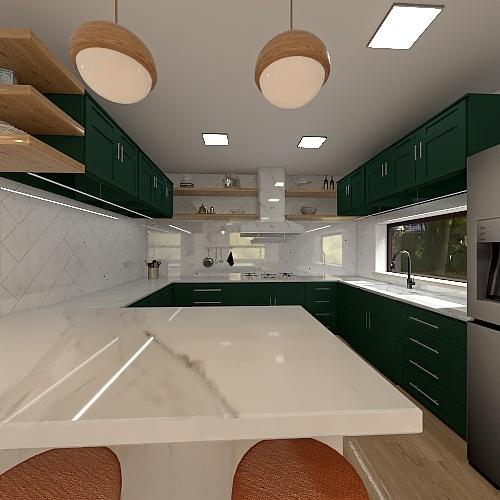 suburban 3 floor house Interior Design Render