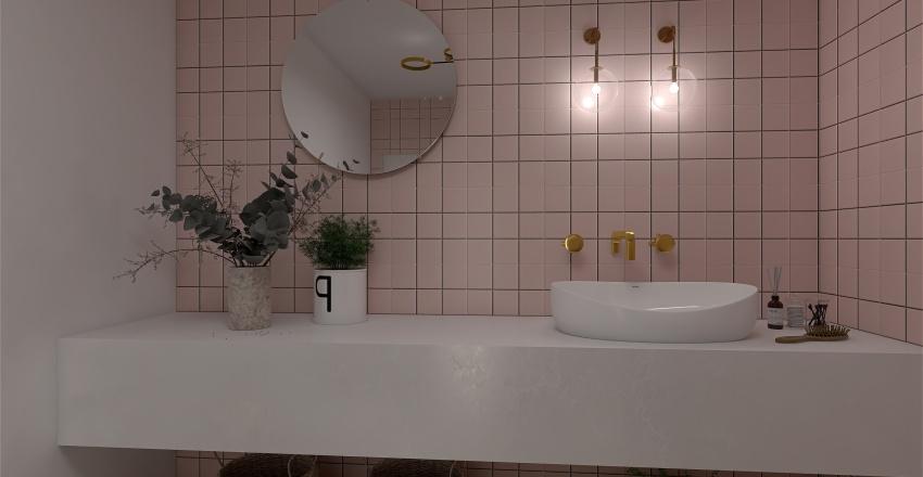 Pink Studio Interior Design Render