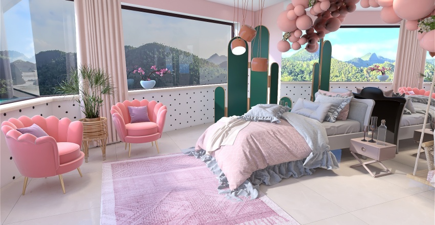 Sadelik ve Renkler Interior Design Render