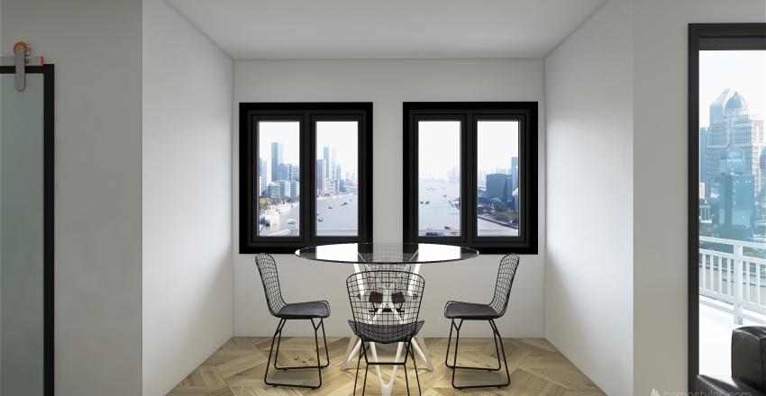 black and white Interior Design Render