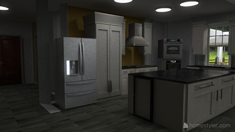 3 level house Interior Design Render