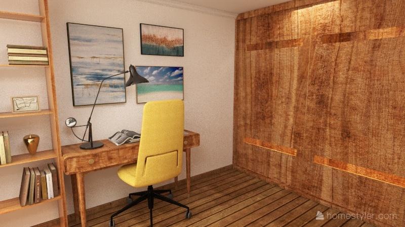 Спальня-кабинет Interior Design Render