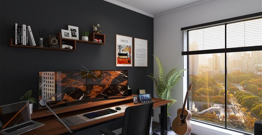 working setup Interior Design Render