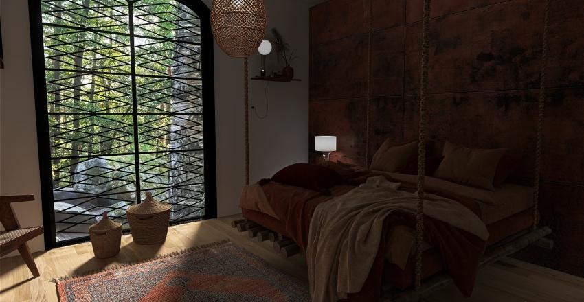 maison moderne dans les rocheuses Interior Design Render