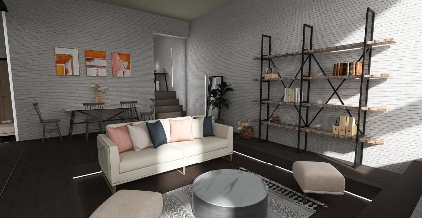 Single woman loft Interior Design Render