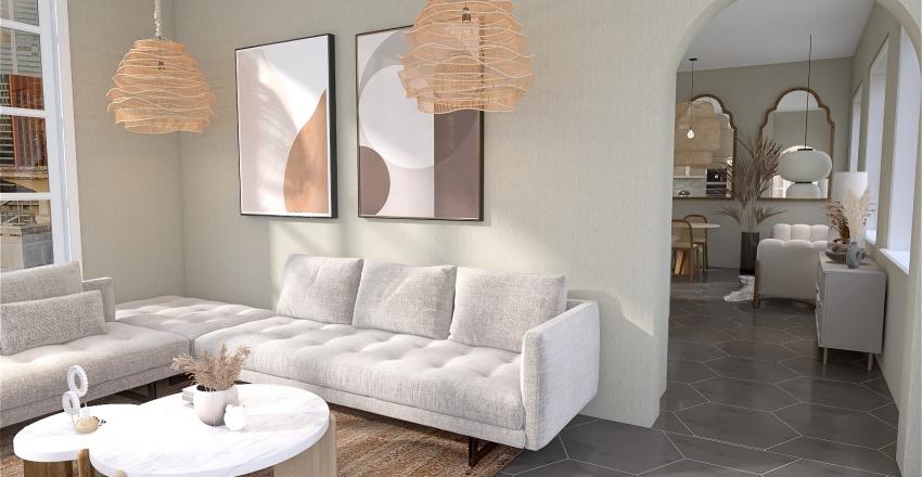 Dreamy City Cafe Interior Design Render