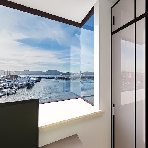 Room 3- Classic Black and White Interior Design Render