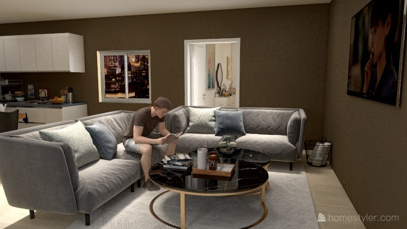 Home 5 Interior Design Render