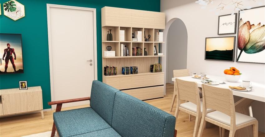 Tatiane + Sala + 17h + 01.08.21 Interior Design Render