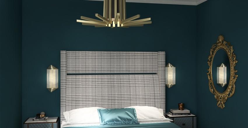 Honeycomb Element Redo- Art Deco Interior Design Render