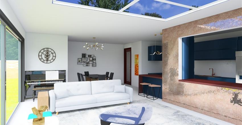Modern GF extension - Kitchen Interior Design Render