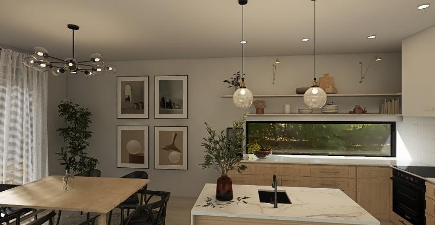 Kuchnia z jadalnią Interior Design Render