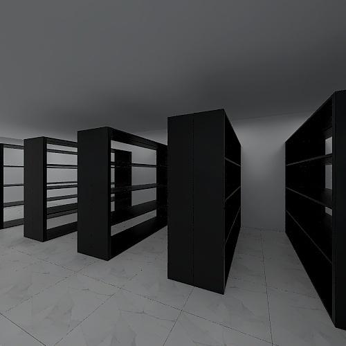 Ruangan Arsip KC Ende Interior Design Render