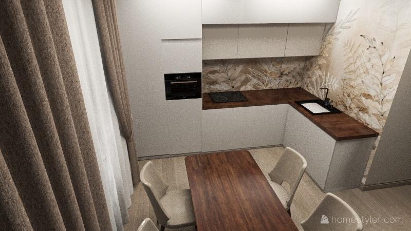 3й вариант Жемчужный каскад Interior Design Render