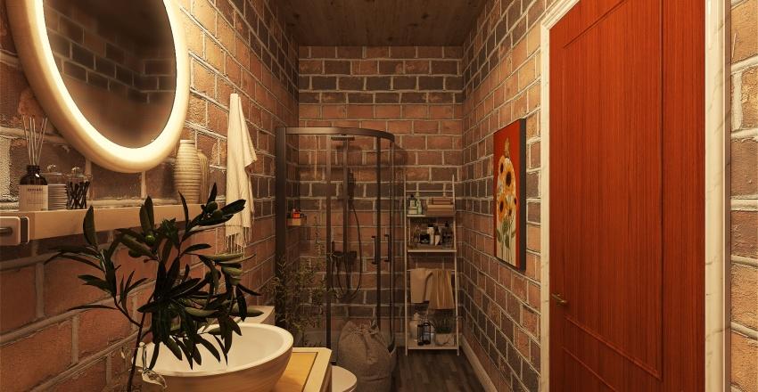 Paris Attic Apartment Interior Design Render