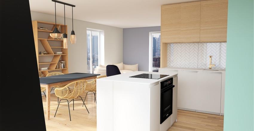 Kitchen_v2_green Interior Design Render