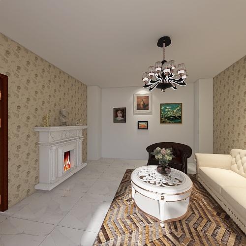 Salón Clásico  Interior Design Render