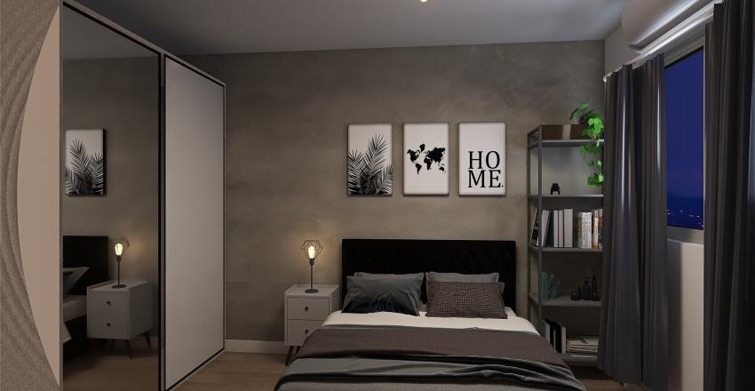Quarto Pamella Interior Design Render