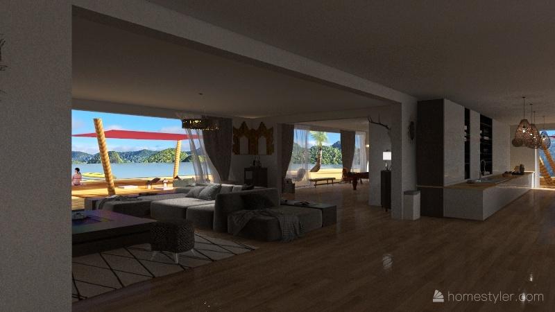 maison bord de mer Interior Design Render