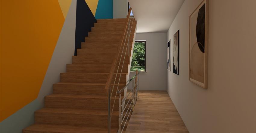 New York Row House Apt Buikding Redesign Interior Design Render