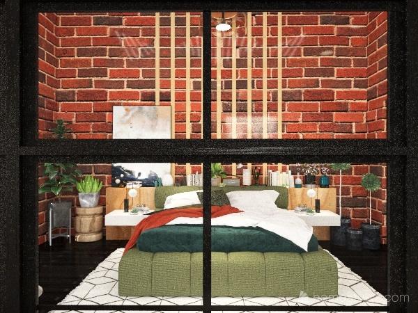 Darkish Apartment. Interior Design Render