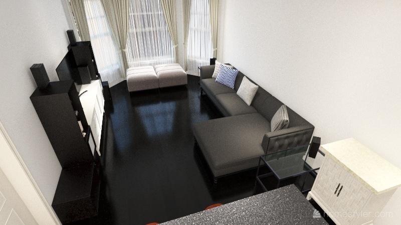 Wellington Living Room Interior Design Render