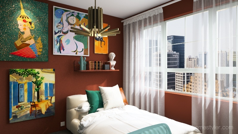 cool bedroom :D Interior Design Render
