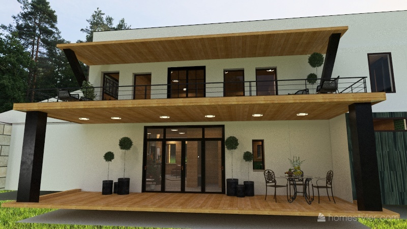 Broken Bow -2nd Level Porch Ideas Interior Design Render