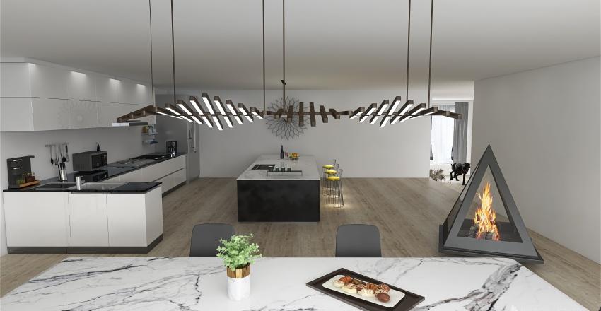 Weekend House Interior Design Render