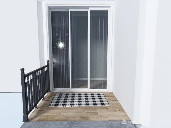 Small Christmas Home Interior Design Render