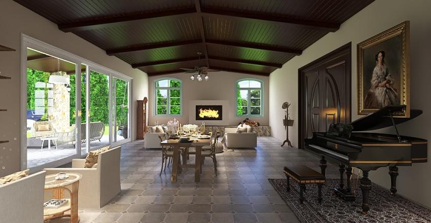TUSCAN VILLA Interior Design Render