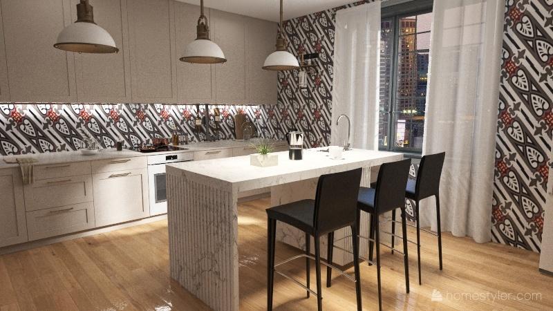 appartement parisien Interior Design Render