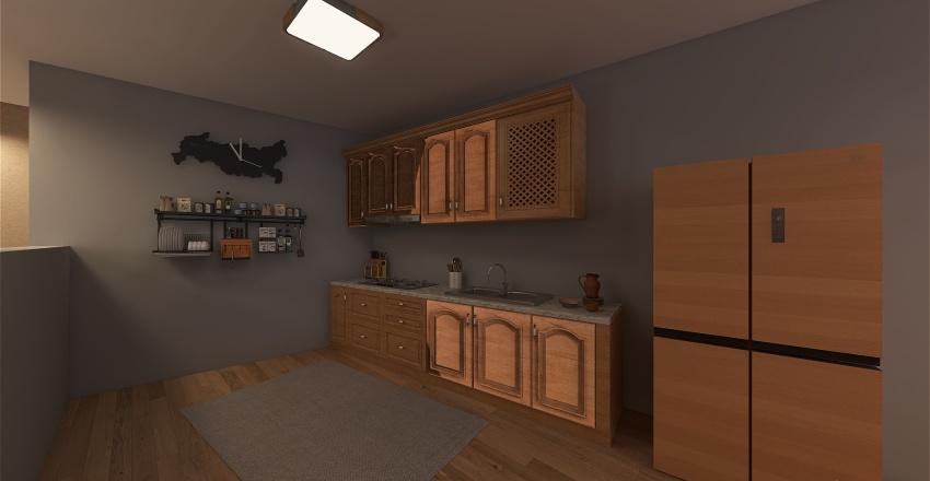 Japandi house style Mar Isa creation Interior Design Render
