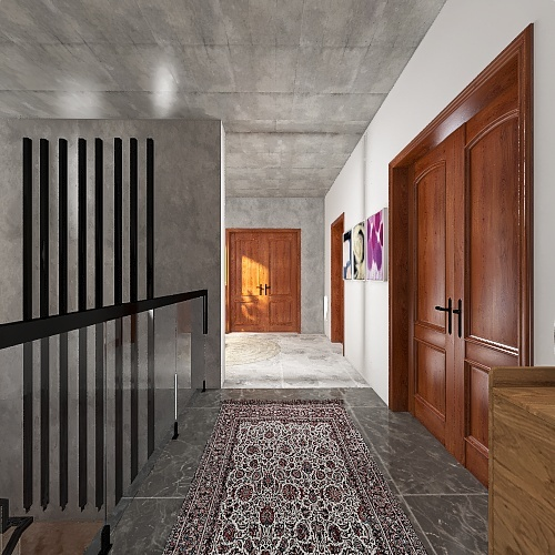 HOUSE 23: HOUSE IN THE WOODS Interior Design Render