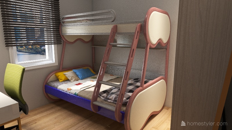 redesaign my and sis bedroom Interior Design Render