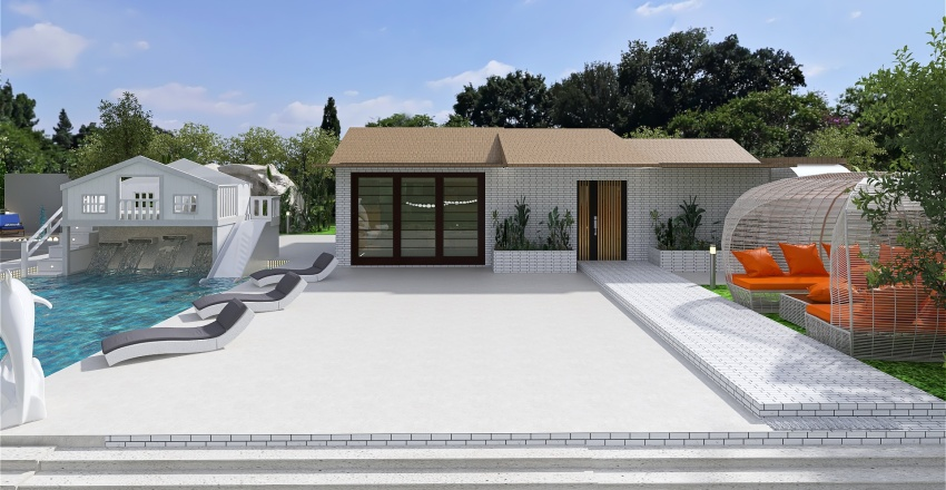 casa.... in campagna moderna Interior Design Render