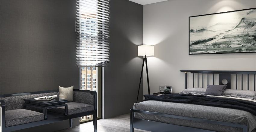 Asian appartment Interior Design Render