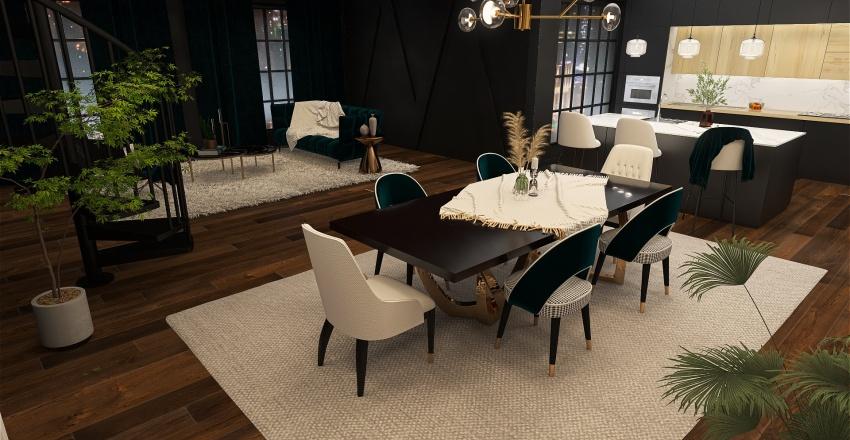 True-in-Turquoise Interior Design Render