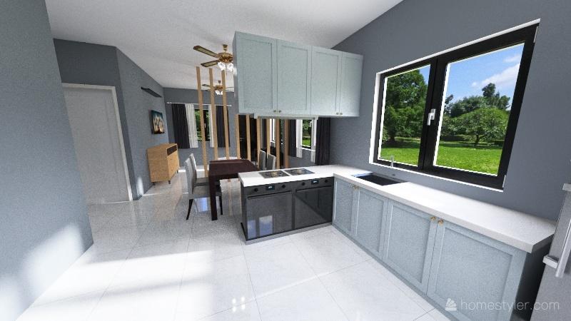 SR House layout (furniture removed) Interior Design Render